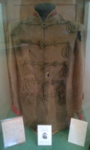 Tunic of Ensign Malcolm McEcheran, first casualty of the Queen's Own Rifles at the Battle of Ridgeway (or Limeridge) June, 1866