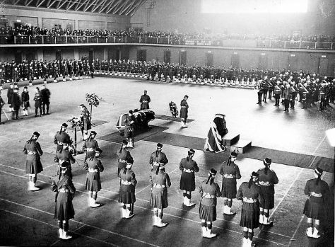 Military funeral of Major General Sir Henry Pellatt at the University Armouries, Toronto