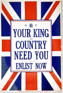 Your King and country need you, enlist now [United Kingdom], [between 1914 and 1918] Archives of Ontario poster collection Reference Code: C 233-2-8-0-148 Archives of Ontario, I0016896