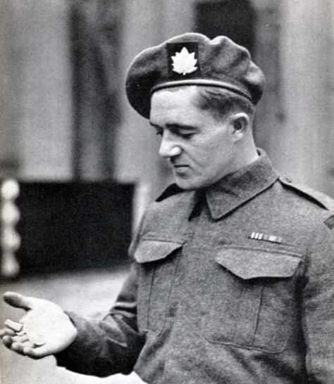 Rifleman W. Chicoski after receiving the Military Medal for valor on D-Day