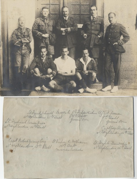 Upper Canada College First World War prisoners of war including 3rd Battalion's Major Kirkpatrick.