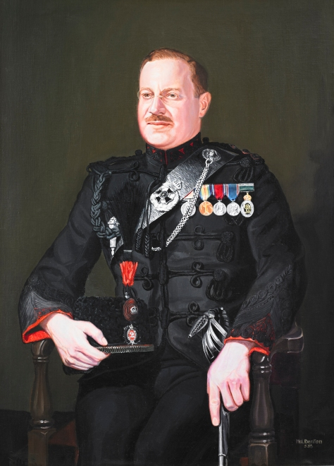 Major General R.B. Gibson, CB, CBE, VD, QC, LLD – Sixteenth Commanding Officer, 1935-1937. The original oil painting by Hal Denton, hangs in the Queen's Own Rifles Officers' Mess. Photo by Christopher Lawson, June 17, 2010.