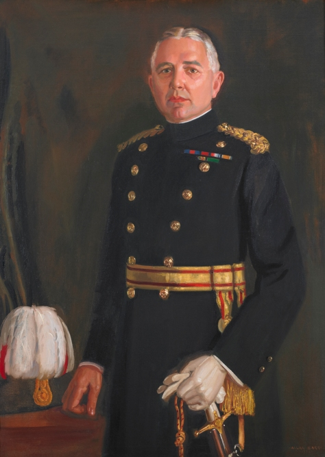 Brigadier General John A. Gunn, CMG, DSO, VD – Twelfth Commanding Officer, 1921-1922. The original oil portrait by Lieutenant (Robert) Allan Barr, hangs in the Queen's Own Rifles Officers' Mess. Photo by Christopher Lawson, June 17, 2010.