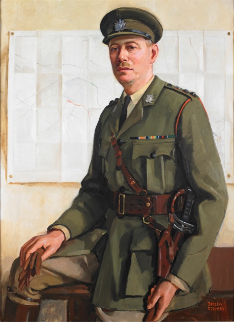 Colonel Reginald Pellatt, VD – Fourteenth Commanding Officer, 1925-1930 and Honorary Colonel, 1951-1956. The original oil painting by Dorothy Stevens hangs in the Officers' Mess.