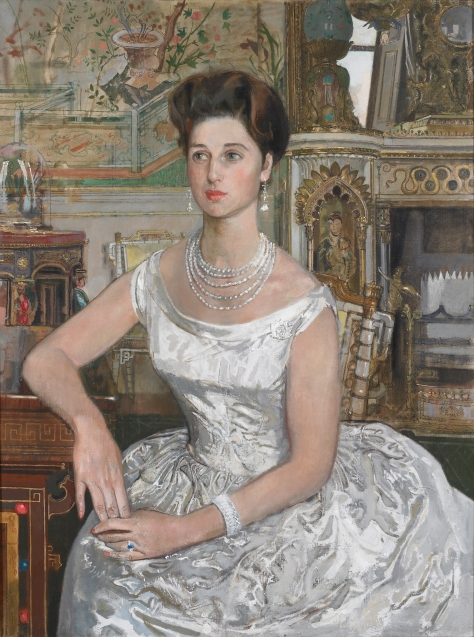 "HRH Princess Alexandra, KG, GCVO – Colonel in Chief, 1960-2010. Original 40"" x 30"" oil on canvass painting by an unknown artist hangs in the Officers' Mess. Portrait photo by Christopher Lawson, June 17, 2010."