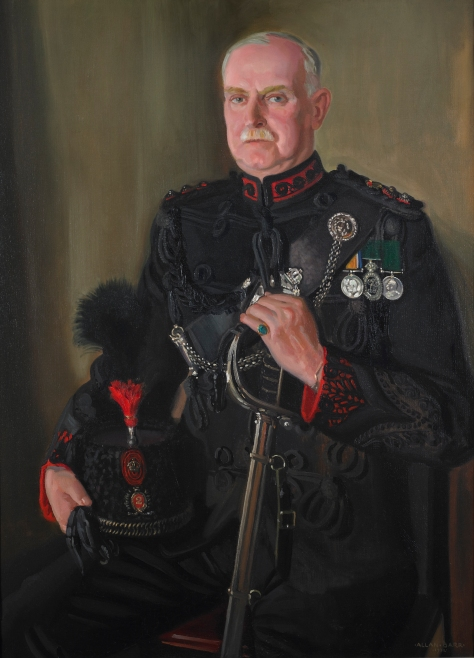 Colonel George C. Royce, VD – Eleventh Commanding Officer, 1920-1921. The original 1936(?) oil painting by Lieutenant (Robert) Allan Barr hangs in the Officers' Mess.