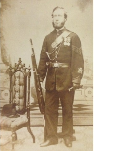 QOR 1866 Sgt right taken right after the Fenian Raids