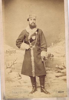 QOR officer in winter dress