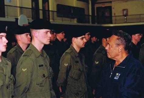 Mayor Lastman inspecting troops