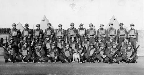 3rd Mortar Platoon at Gander Airport, Newfoundland, 1940