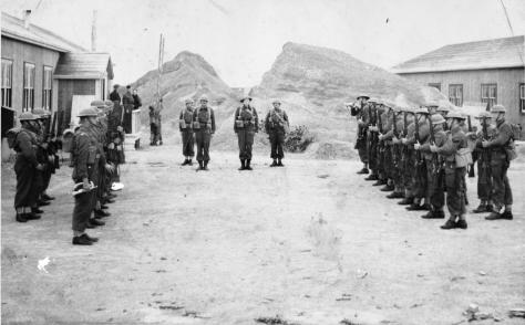 1st Battalion, The Queen's Own Rifles of Canada - change of Quarter Guard at Gander, Newfoundland in 1940
