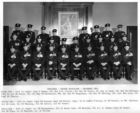 1963 Dec 2nd Bn QOR Officers