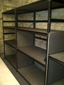 New photos storage shelving installed December 2012.