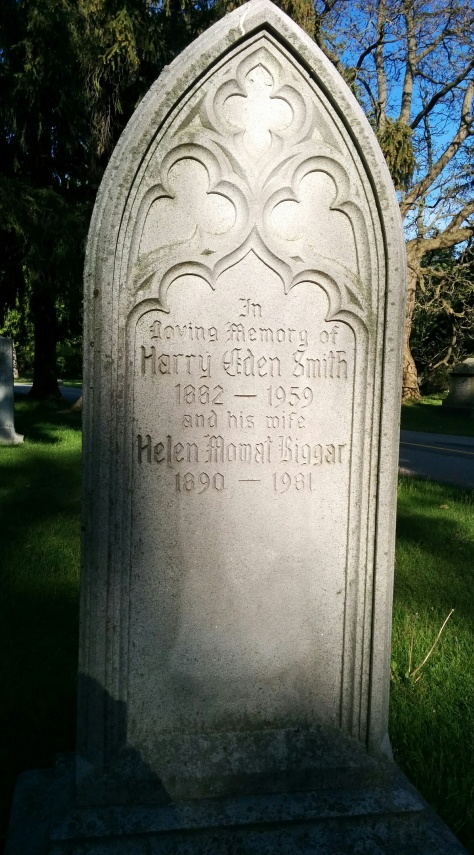 Smith, Harry Eden gravestone