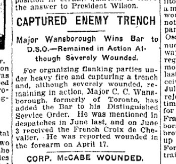 Wansbrough C C WWI newclipping