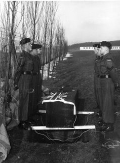 Funeral of Rfn Deuce Horn, Mascot 2nd Battalion Queen's Own Rifles of Canada, February 1958
