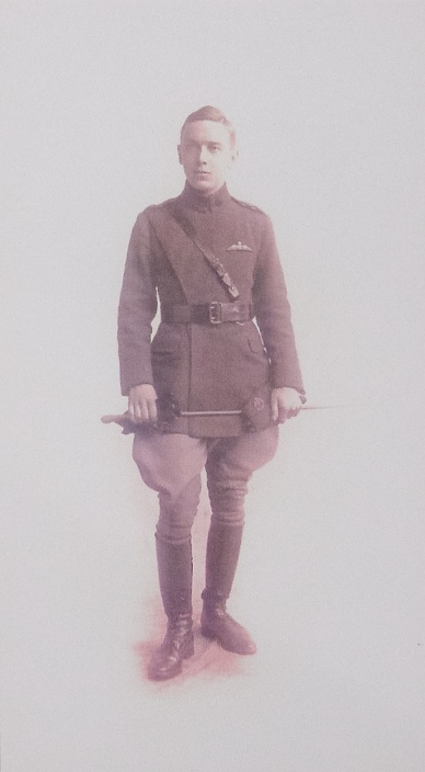 Then Lieutenant Percy Hampton, ED Royal Flying Corps, First World War