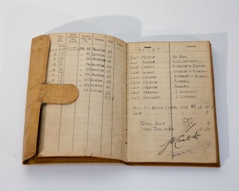 01018 Percy Hampton Logbook inside