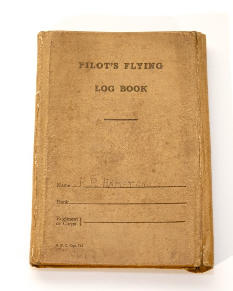 01018 Percy Hampton Logbook Cover