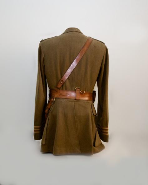 255th Major's First World War Service Dress Tunic (Back)
