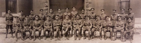 Officers of the 255th Overseas Battalion (QOR), Canadian Expeditionary Force, taken at Toronto on 15 May 1917.