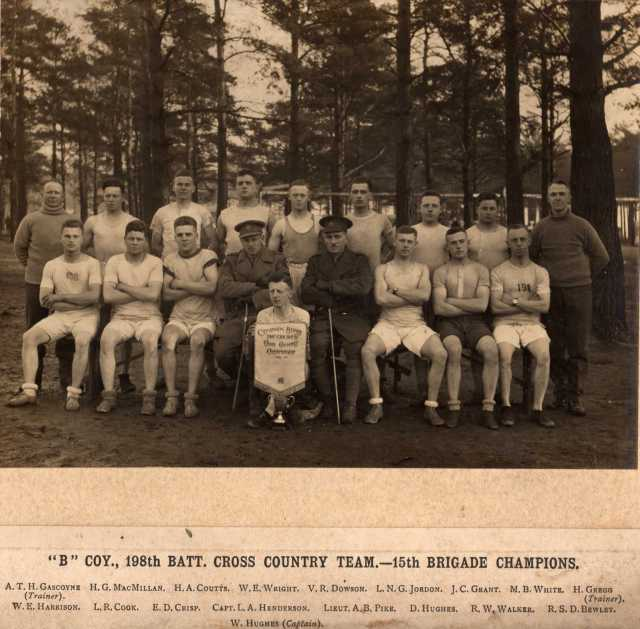 B Company 198th Battalion CEF Cross Country Team - 15th Brigade Champions (Click on the photos for team names)