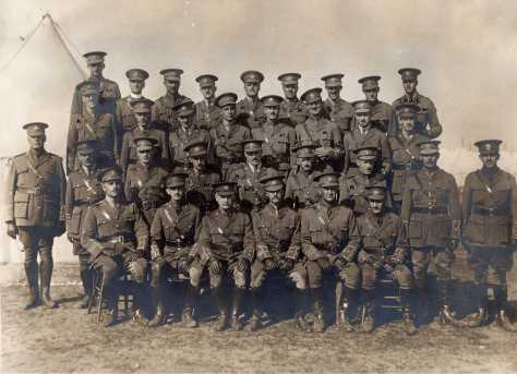 166th Bn Officers October 1916