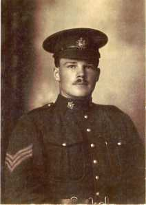 Sergeant (later CSM) Lawrence D. Pridham of the 166th Battalion QOR, CEF and later 4th CMR.
