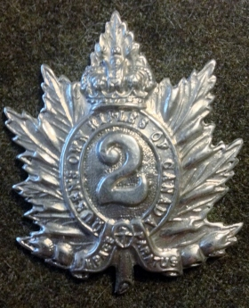 1943-44 QORofC Cap Badge - Graham Humphrey's Collection