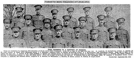 19th Battalion A Company Niagara