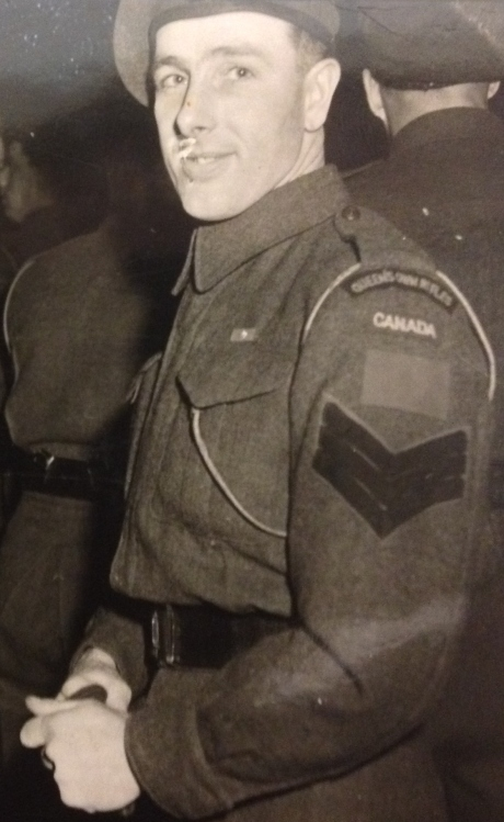 QOR Sgt in Holland 1945