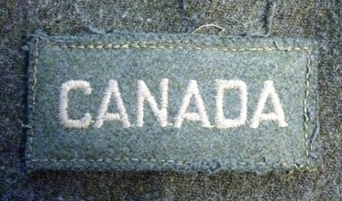 Canada shoulder title straight made in 1941
