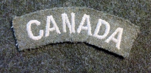 Canada shoulder title curved made in 1940