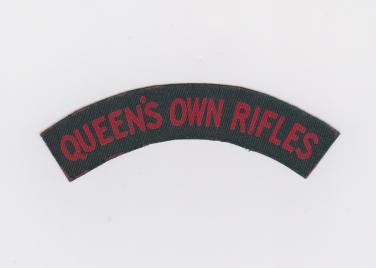British made Canvas QOR title 1943