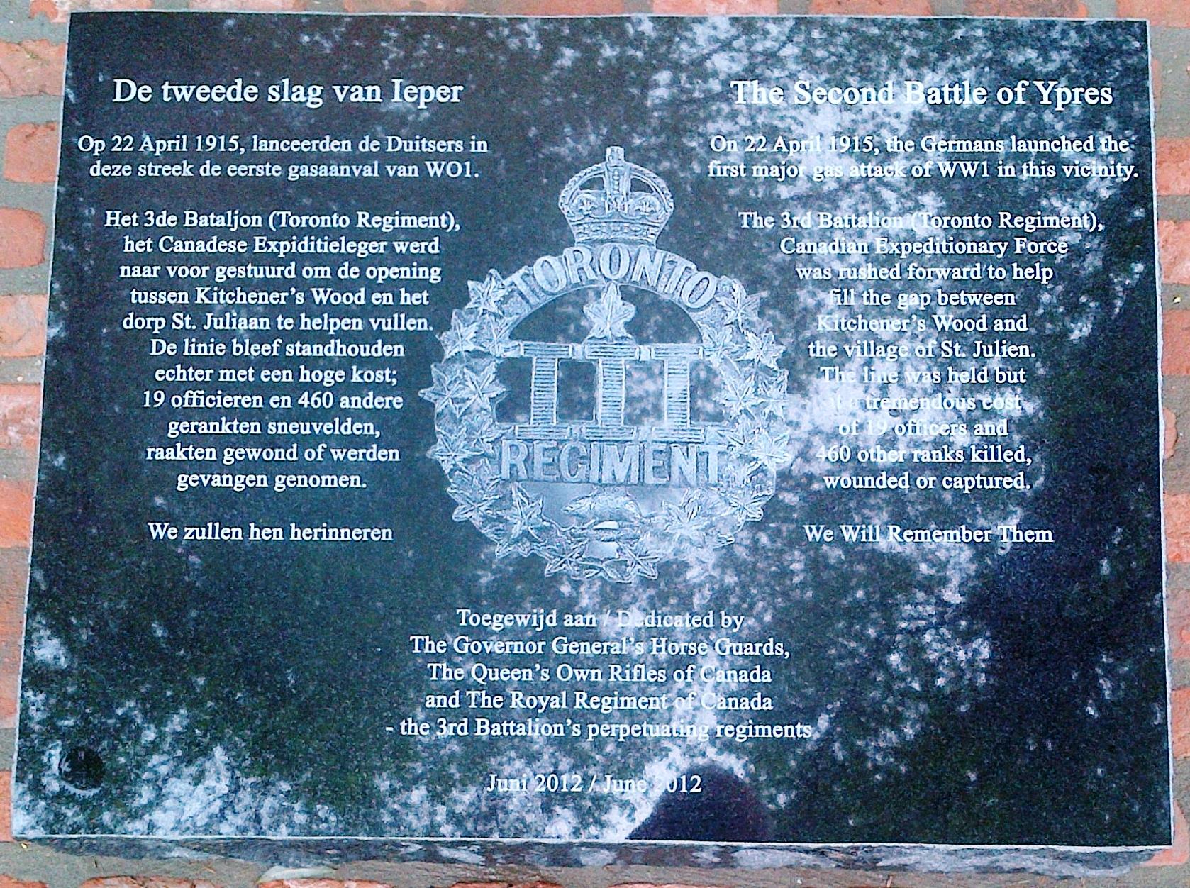 3rd Bn Memorials   The Queen\'s Own Rifles of Canada Regimental ...
