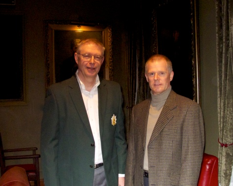 Curator Major John Stephens  (L) with RSM CWO Mark Shannon (R)
