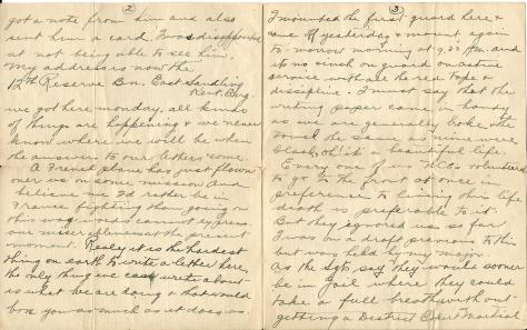 "Page 2 and 3 of a letter from CSM Pridham to ""Dear Folks"" sent 17 January 1917 from London, England"