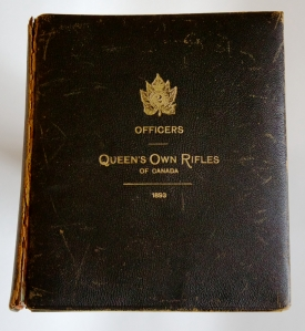 1893 Photograph Album of the Officers of the Queen's Own Rifles of Canada
