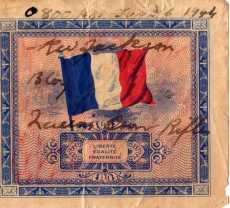 "French 5 franc ""invasion"" notes from Rolph Jackson Collection"