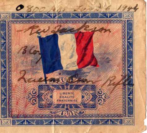 """French 5 franc """"invasion"""" notes from Rolph Jackson Collection"""