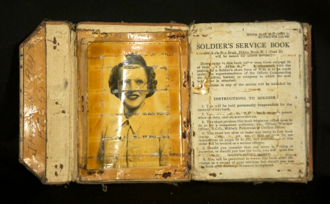Inside of one of Rolph Jackson's pay books with a photo of Olive Lipski, who he would later marry.