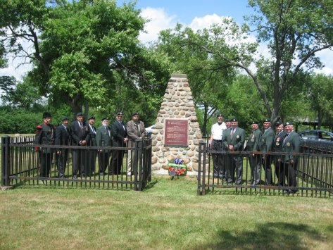 The QOR at Ridgeway Memorial on Decoration Day 2012