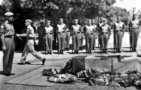 Funeral of Rifleman P.J. Hoare in Cyprus, August 1965
