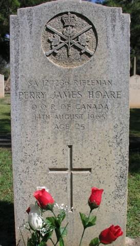 Graves of Rifleman P.F. Hoare, Dhekelia, Cyprus