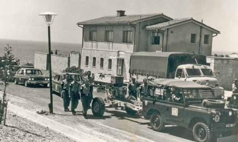 Funeral procession for Rifleman Perry Hoare in Cyprus.