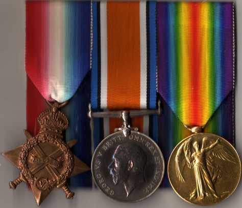 First World War medals of Sgt Arthur Stewart Houston donated by LCol R. Zeidler