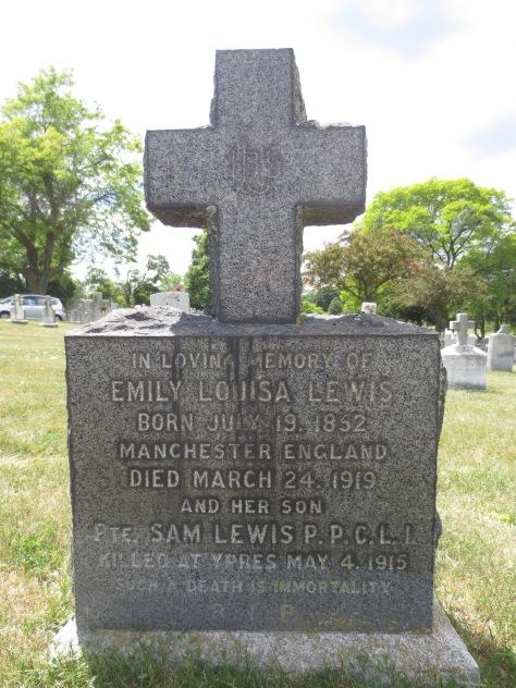 Lewis, Samuel gravestone