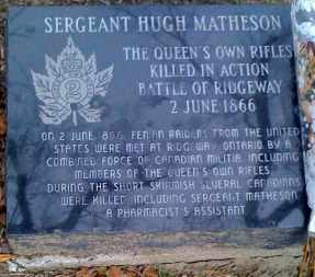 Grave marker for Sergeant Hugh Matheson