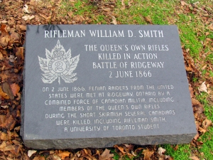 Gravemarker of Rifleman William D. Smith