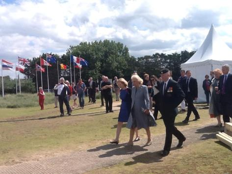 At Juno Beach Centre, 5 June 2014 from L to R: the Prime Minister's wife Lauren Harper, Her Royal Highness the Duchess of Cornwall, and Lieutenant Colonel John Fotheringham, CD